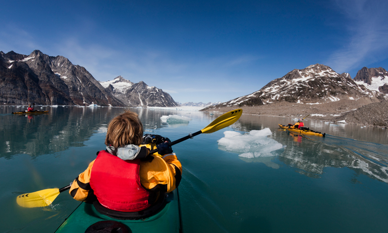 Kayaking in Greenland