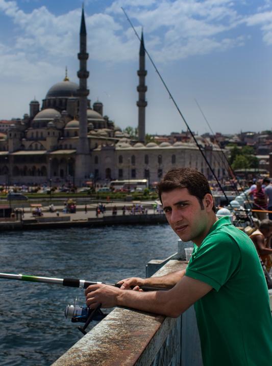 Istanbul - Galata Bridge Fishing