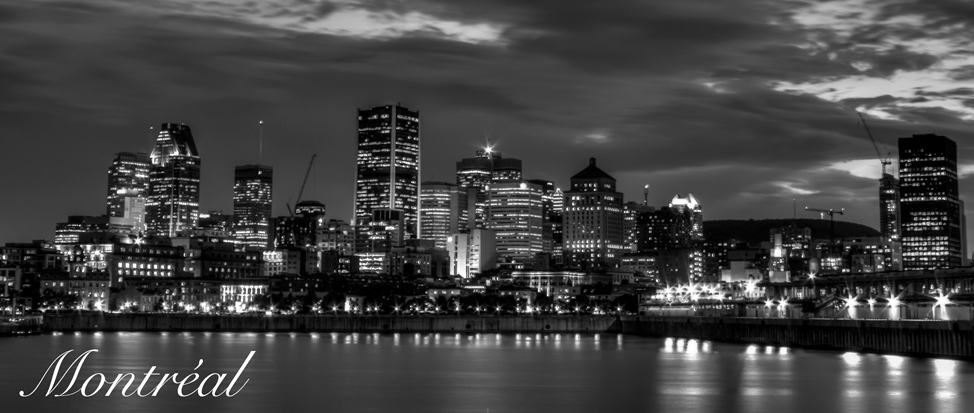 Montréal Skyline Black and White