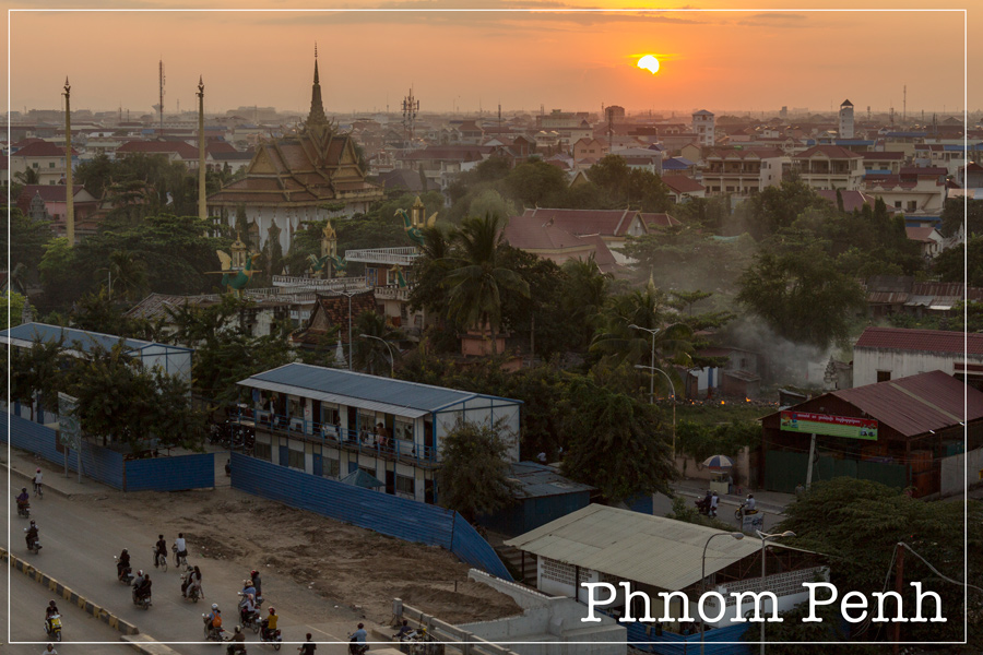 Sunset on Wat Steung Machai