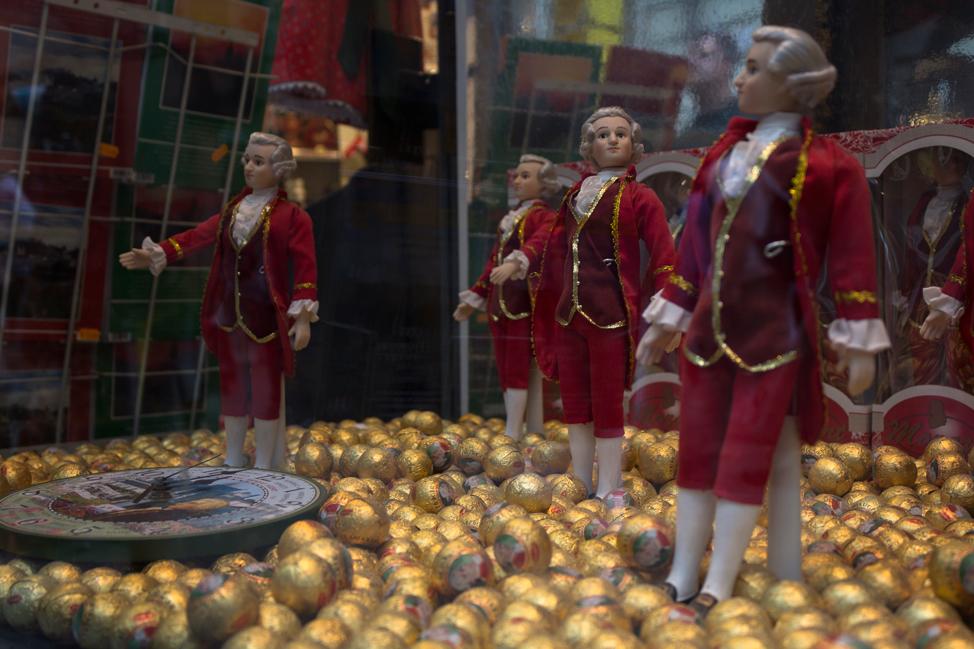 Mozart Balls in Salzburg, Austria