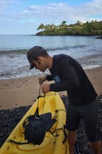 Prepping the Kayaks