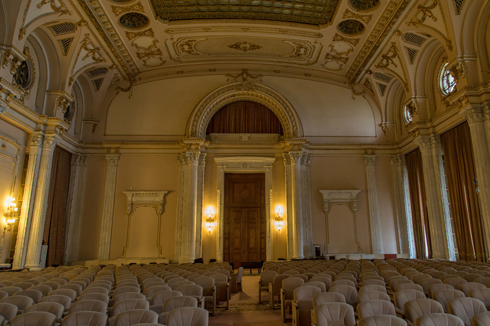 Theater in Peoples Palace Bucharest