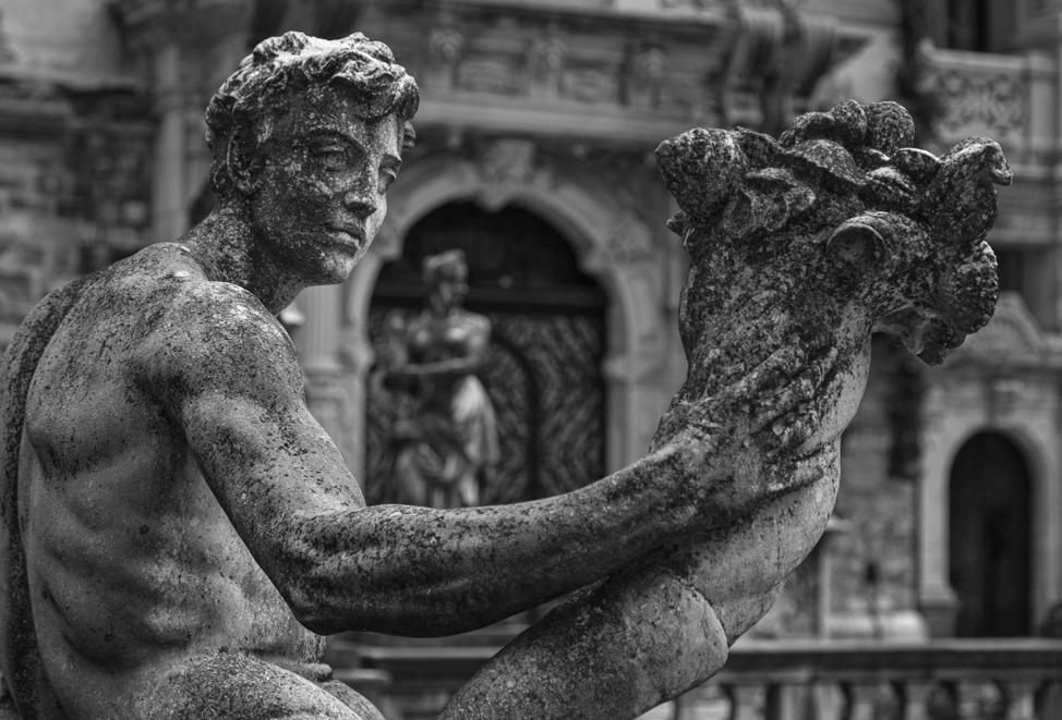 Peles Castle Statue Up Close