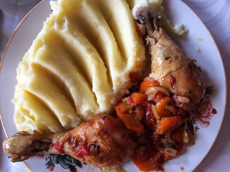 Typical Romanian Meal