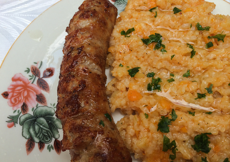 Sausage and Pilaf