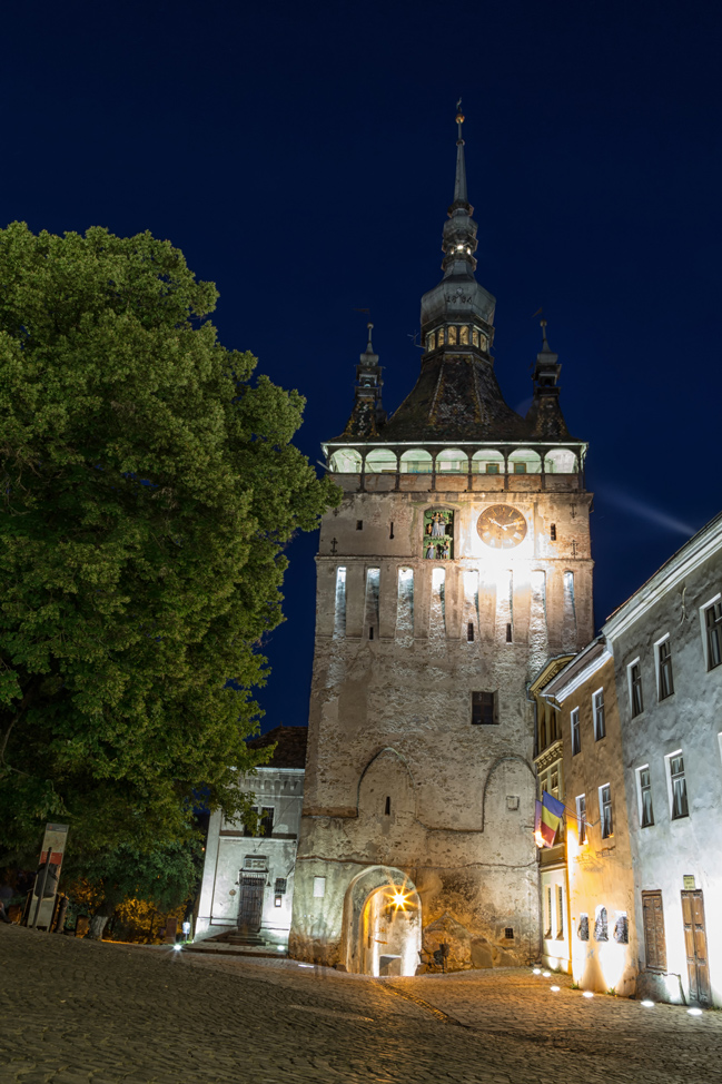 Sighisoara Clock Tower at Night