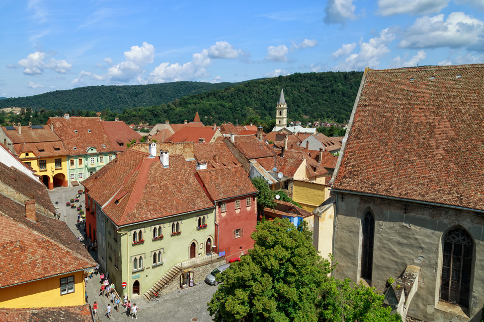 Sighisoara From Above