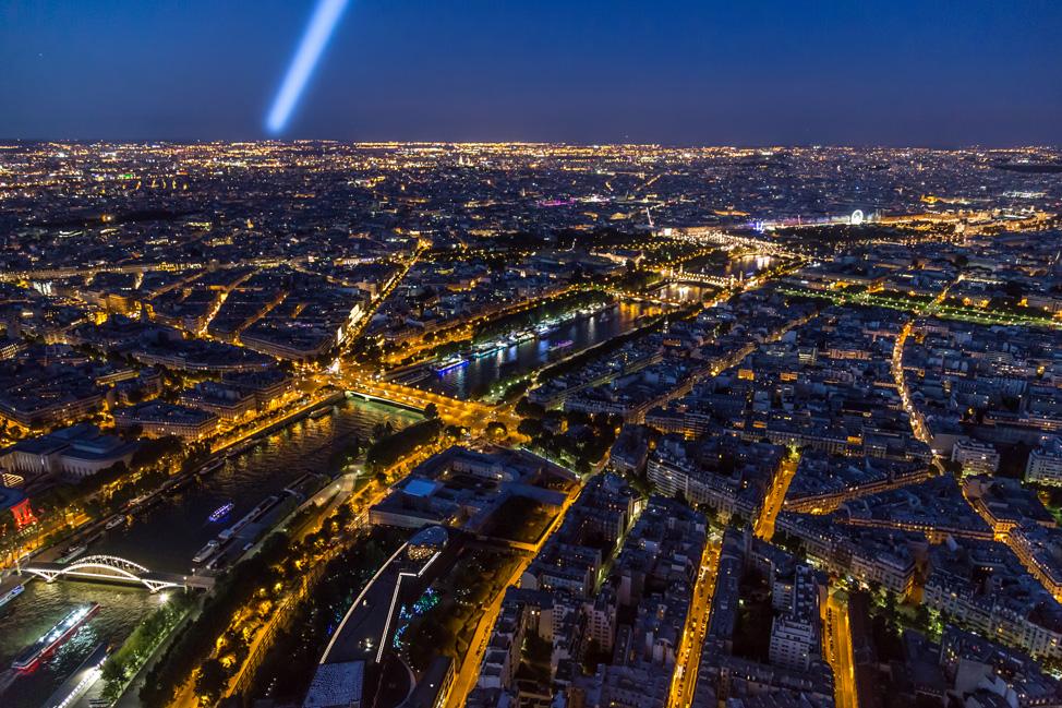 Eiffel Spotlight over Paris