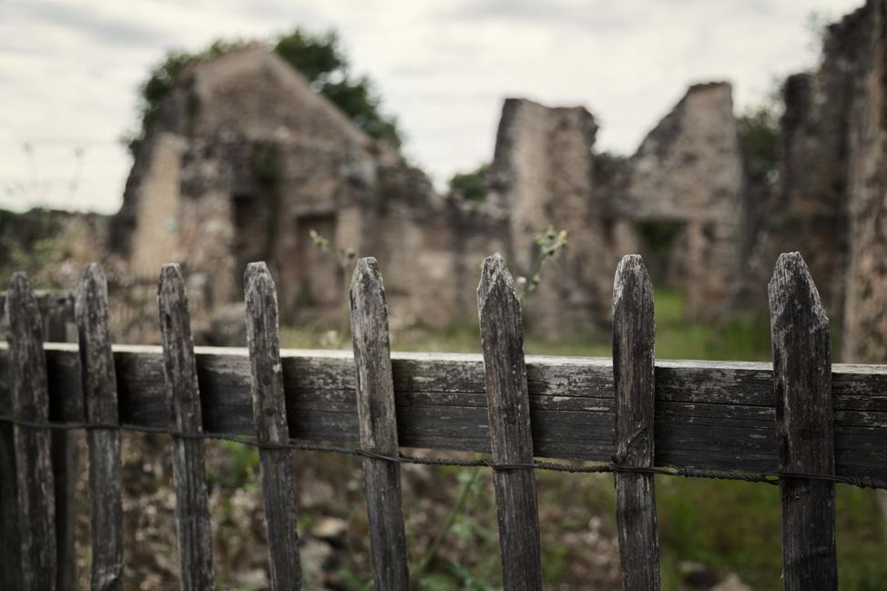 Empty Yard - Oradour