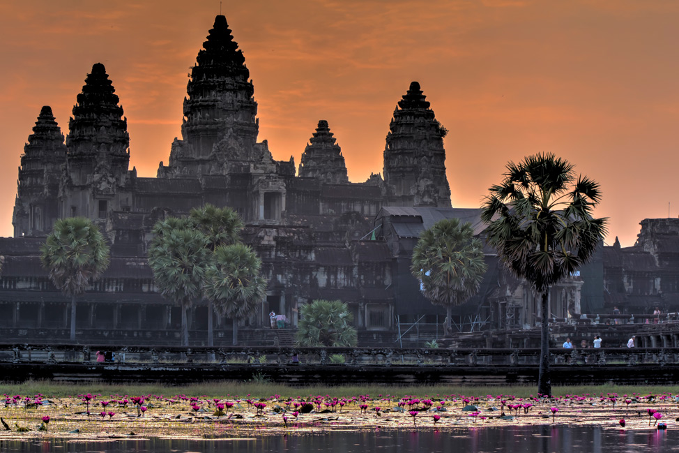 Orange Sky over Angkor