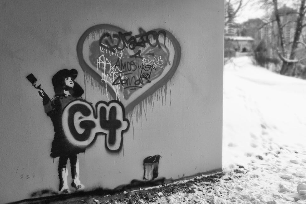 Banksy in Calgary