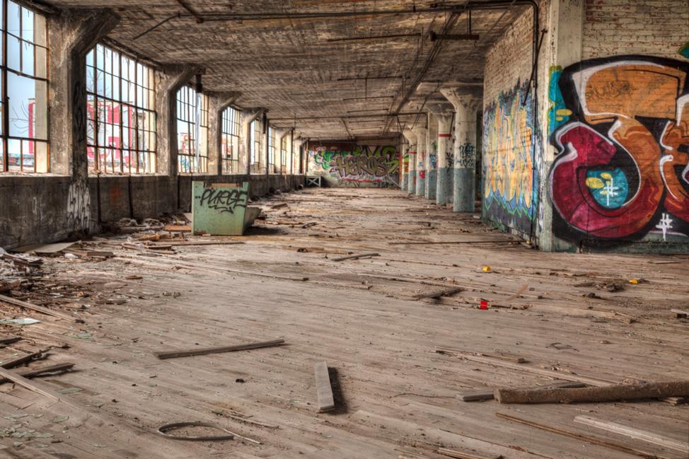 Abadoned Floor Detroit Factory