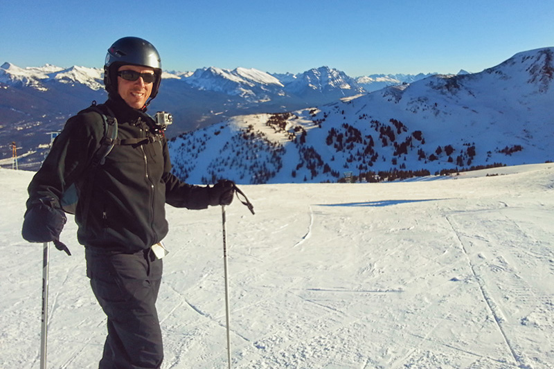 My Jasper Pete Skiing Marmot Basin