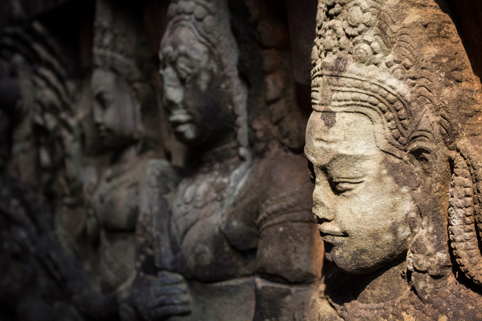 Carvings within the Royal Palace - Angkor Thom