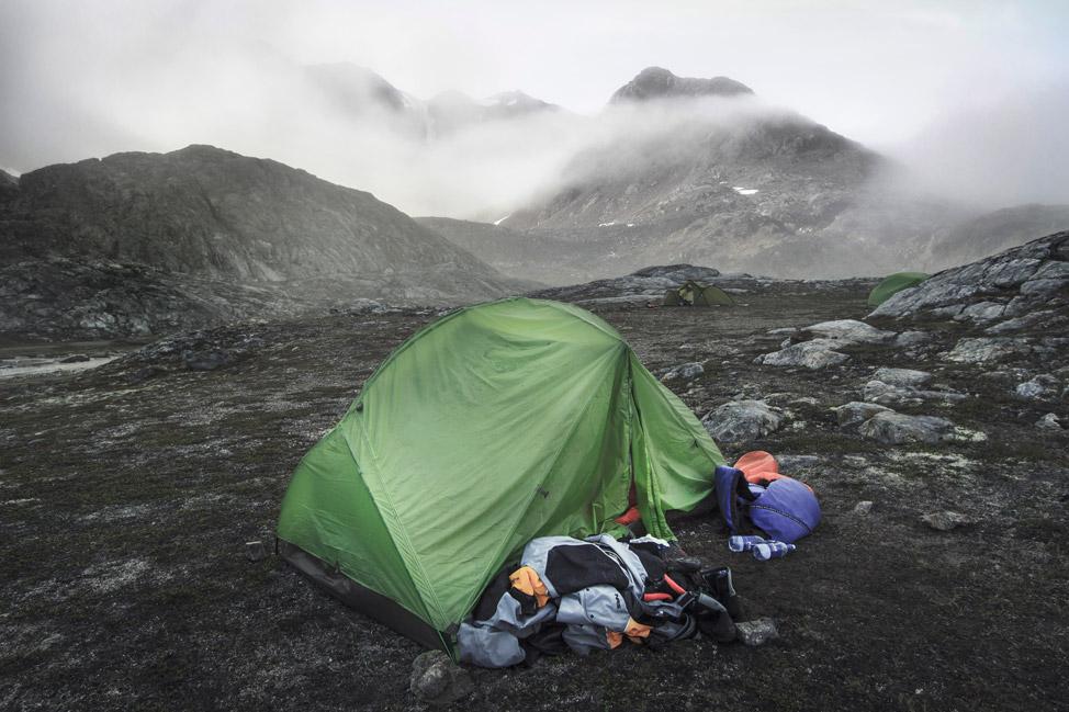 Fog Rolls Into Camp