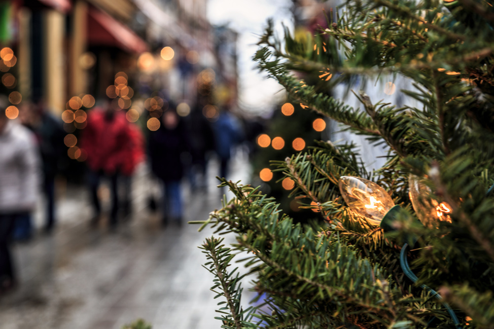 Christmas Shopping in Quebec