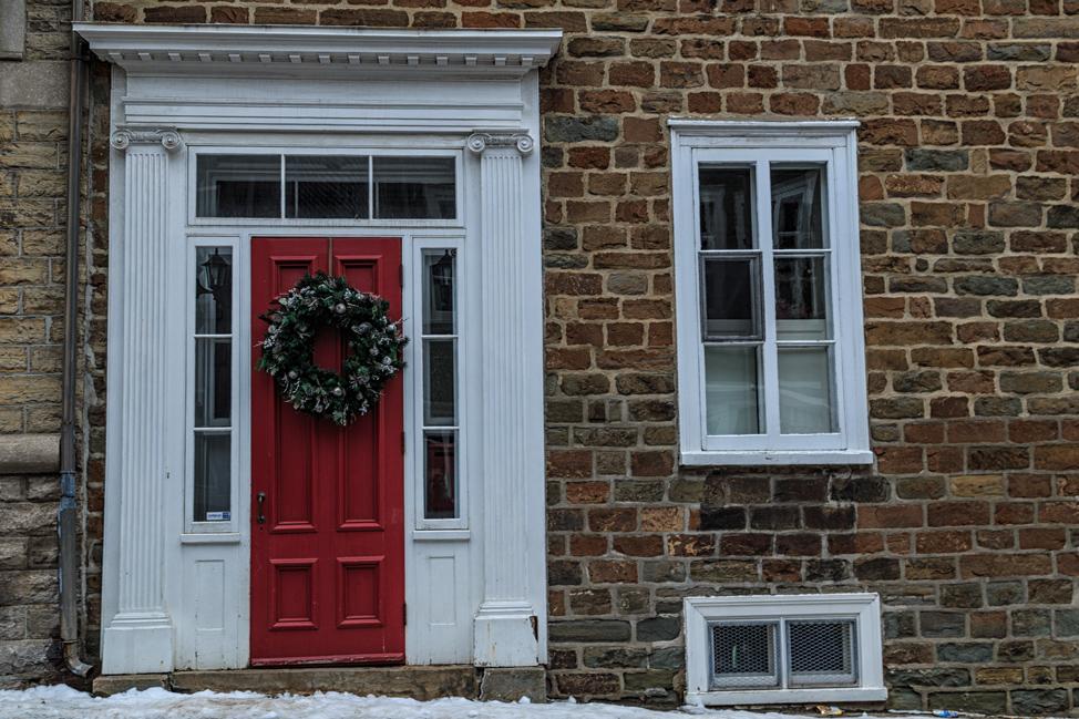 Quebec Decorated Door