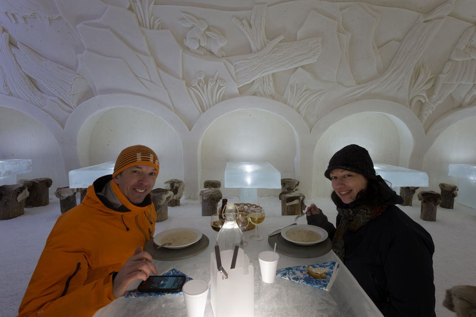 Dinner Ice Castle
