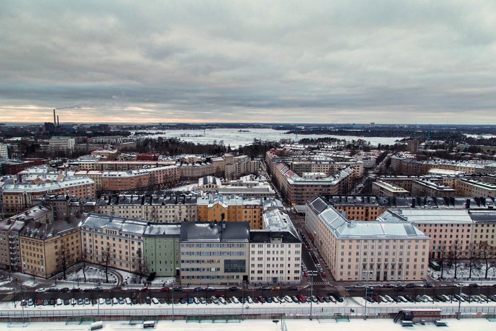 Helsinki from Olympic Tower