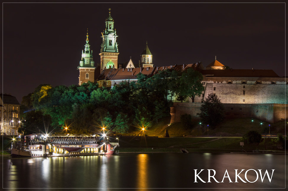Krakow Castle at Night