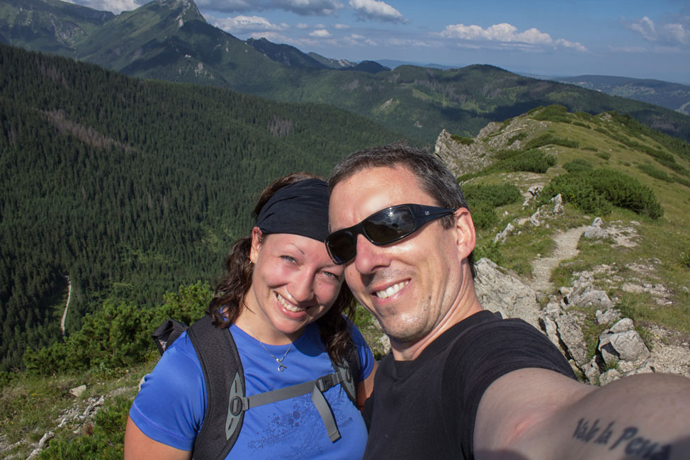 Pete & Dalene Selfie in the Tatra Mountains of Poland