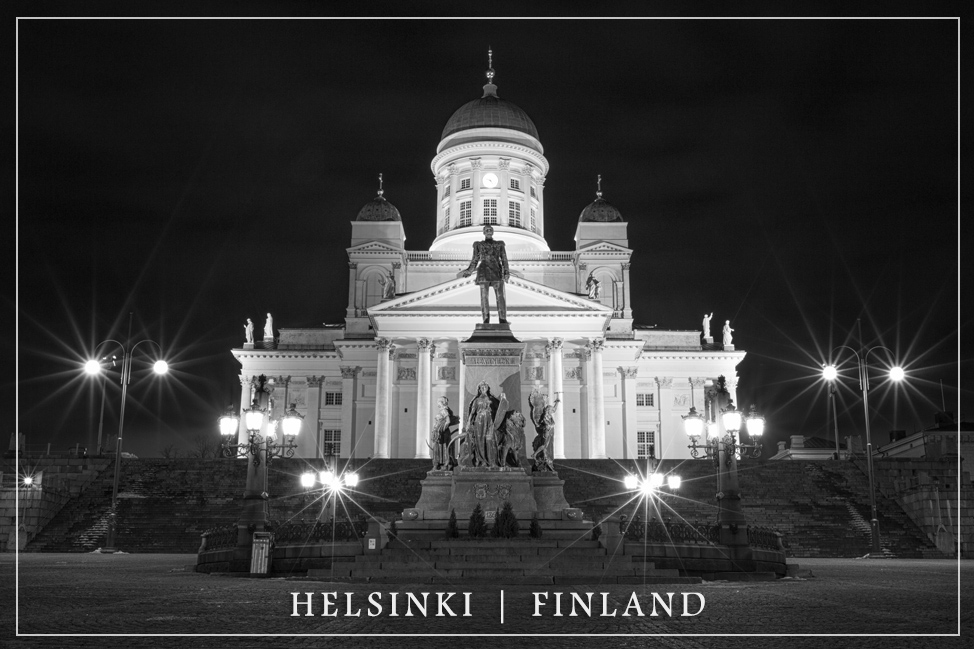 Helsinki Cathedral by Night