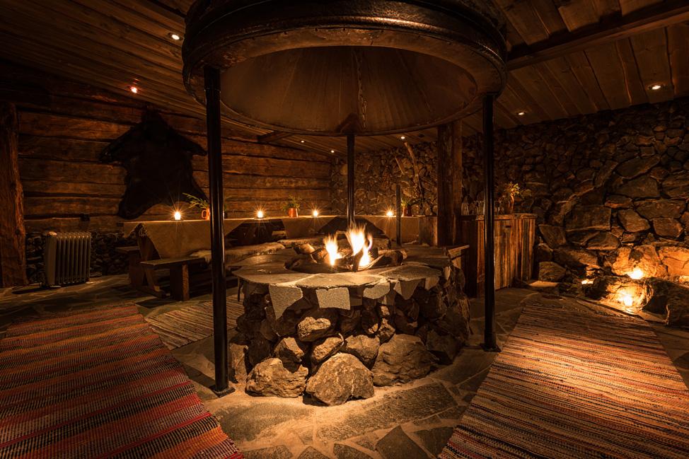 Jarvisydan Resort Sauna Sitting Room