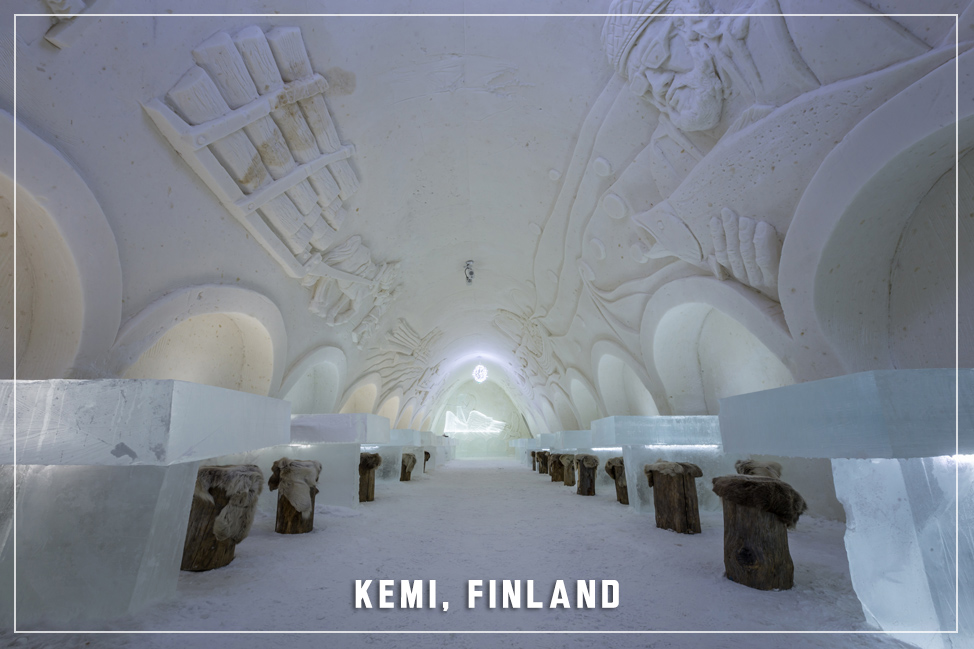 Kemi Snow Castle Dining Hall