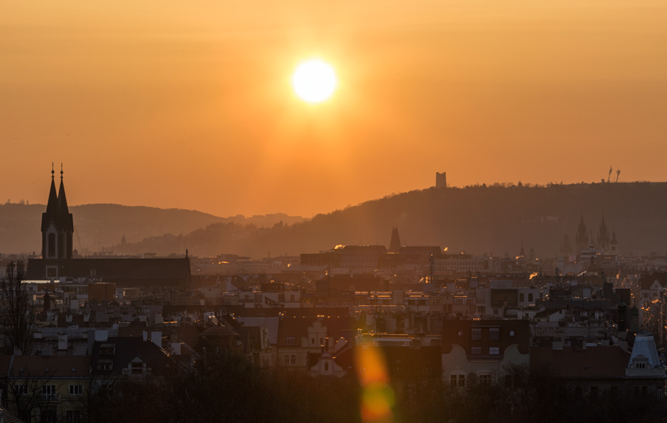 Sunset on Prague