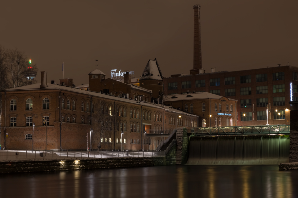 Tampere River at Night