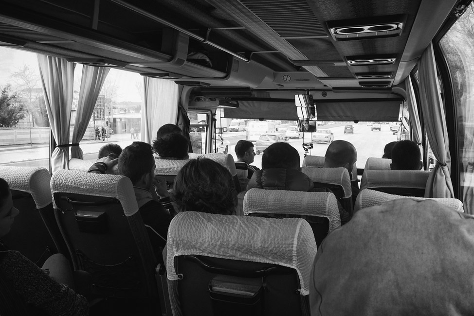 Bus travel in Albania