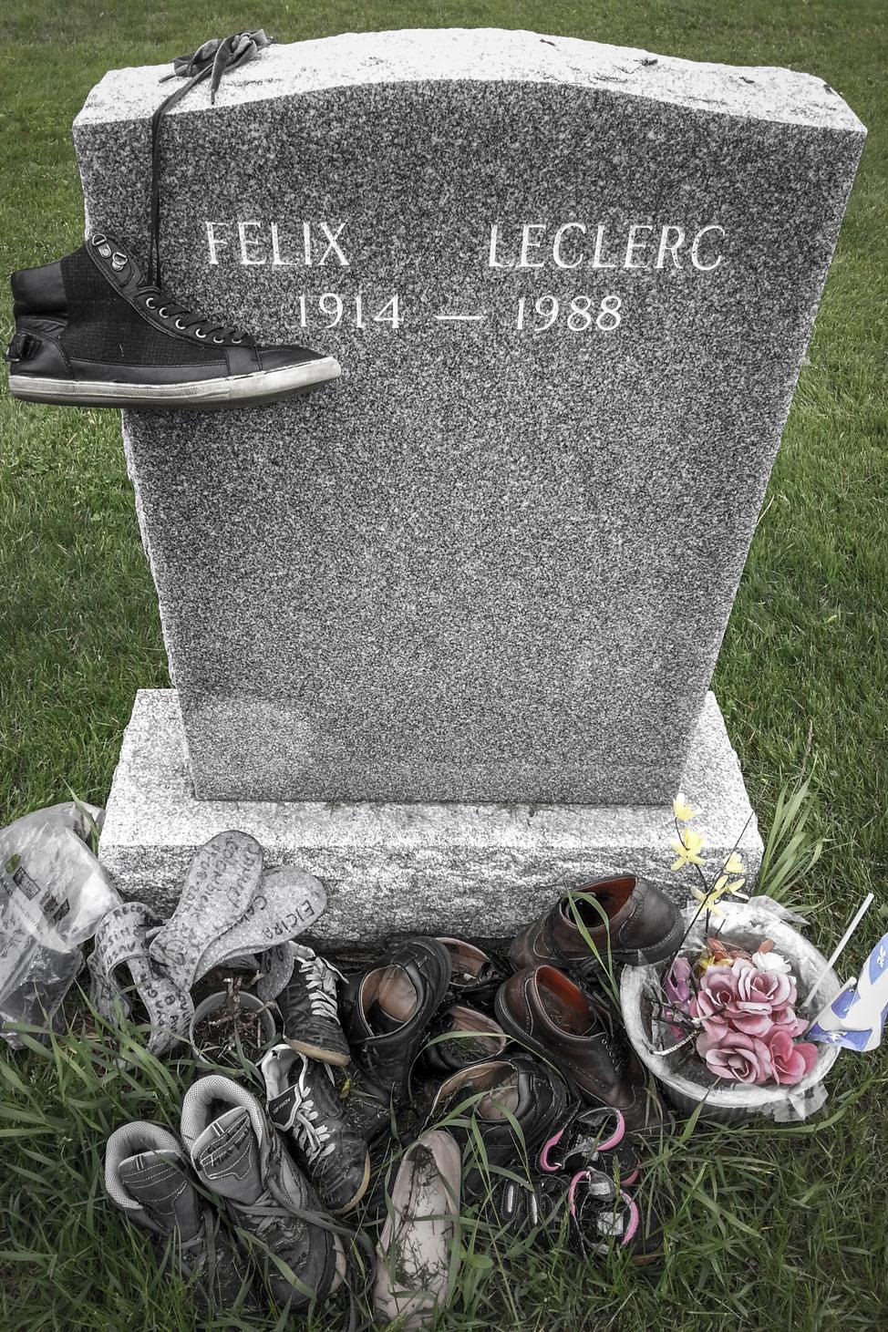 Felix LeClerc Headstone