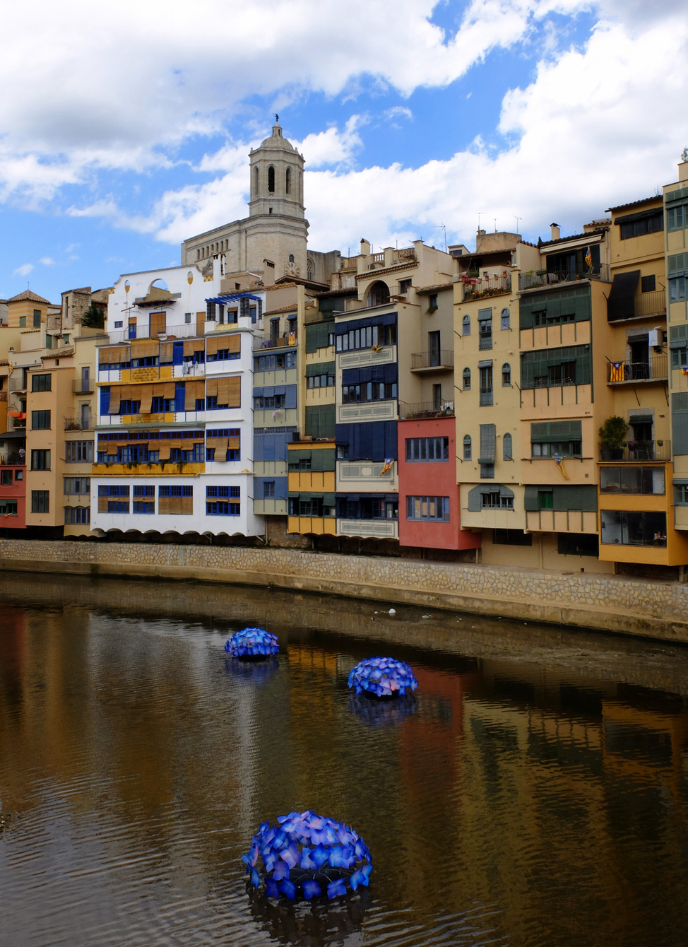 Girona-Spain-River-Flowers