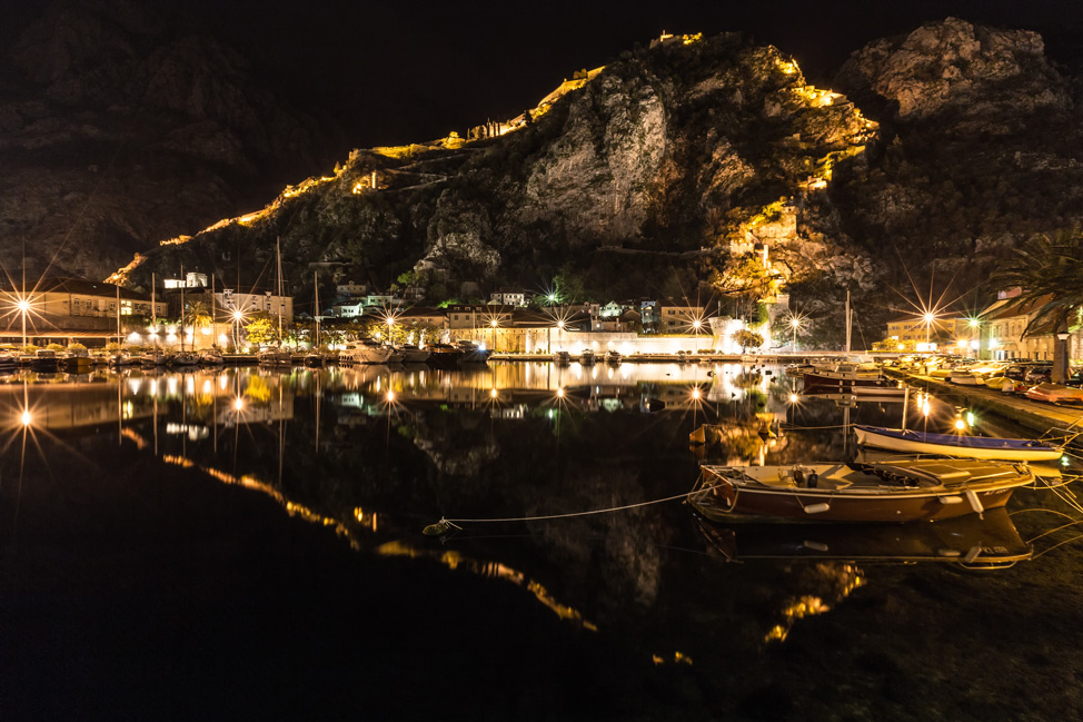 Kotor Lit Up at Night