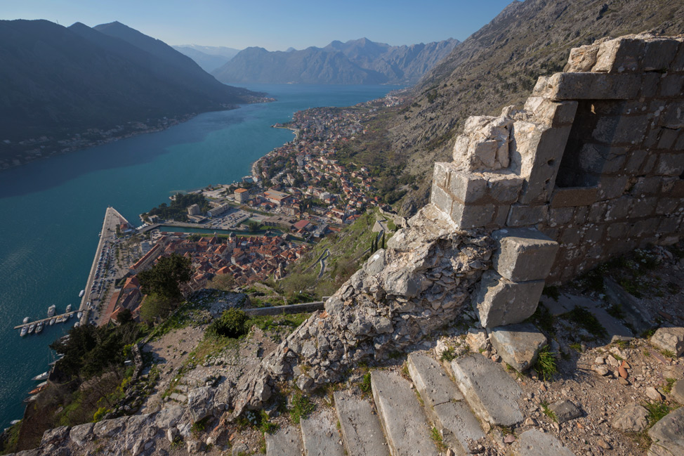 Kotor Fortress View from Top