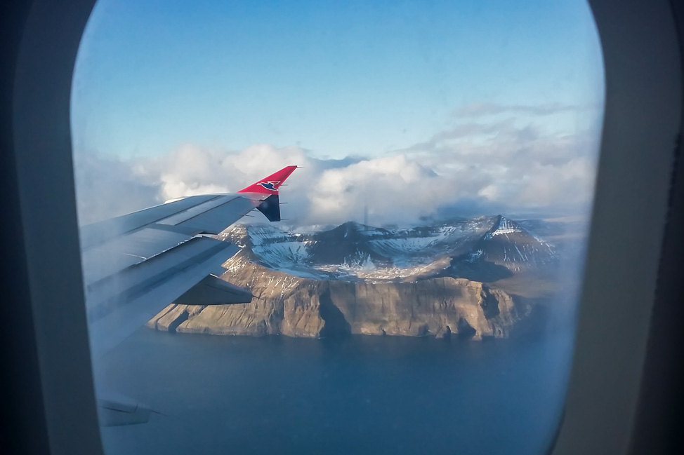 First Glimpse of the Faroe Islands