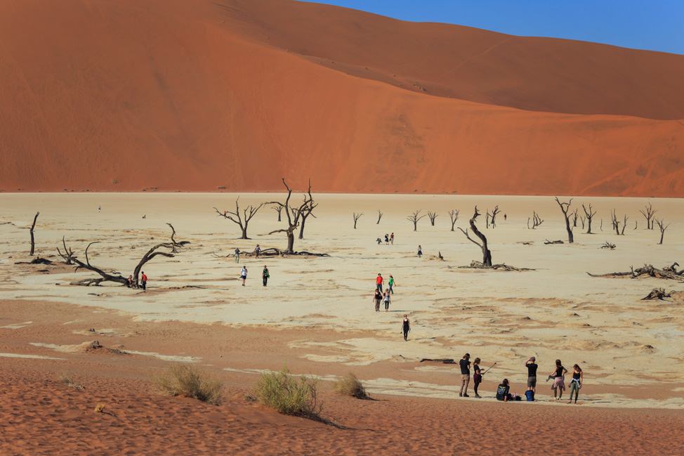 Tourists in Deadvlei