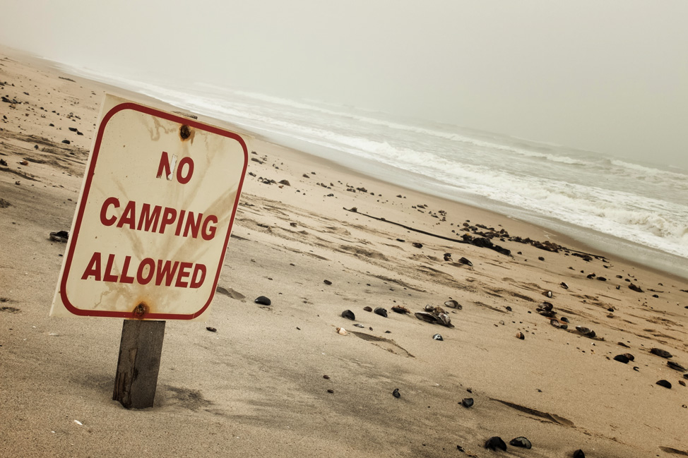 No Camping Allowed