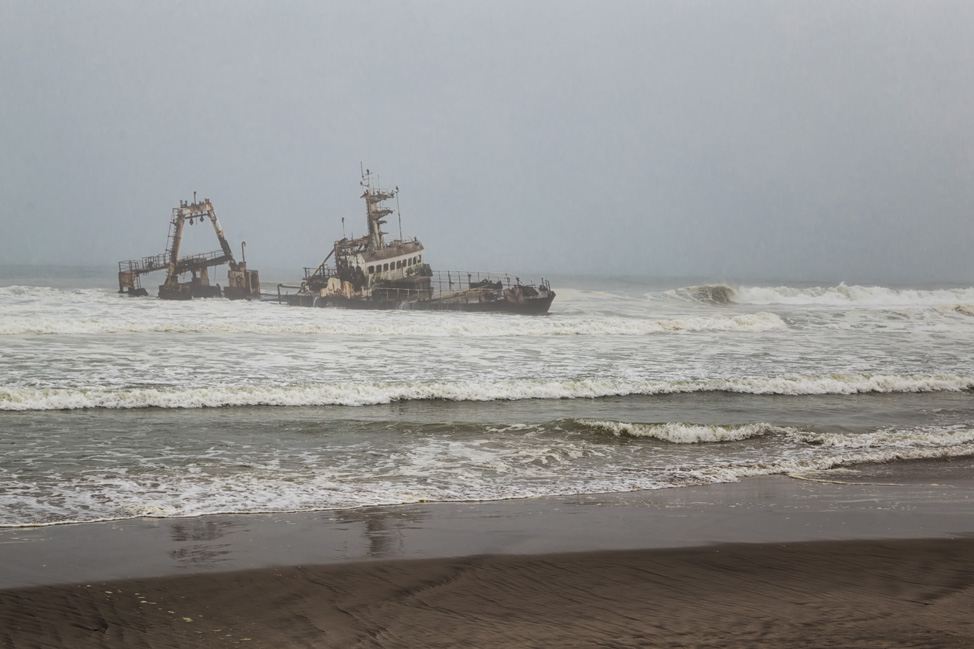 Shipwreck Along the Skeleton Coast