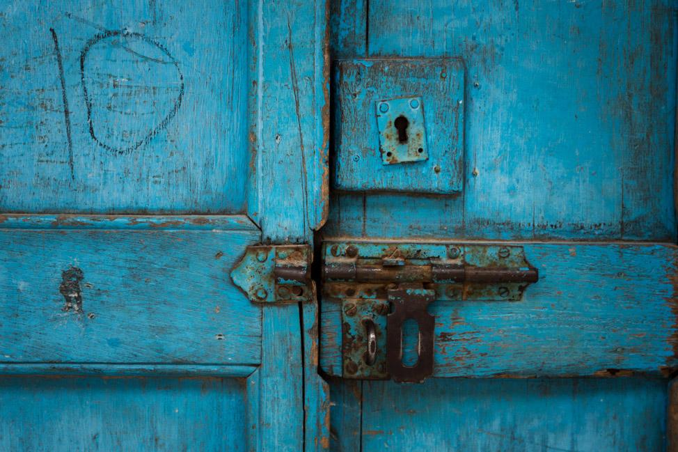 Stone Town Blue Door