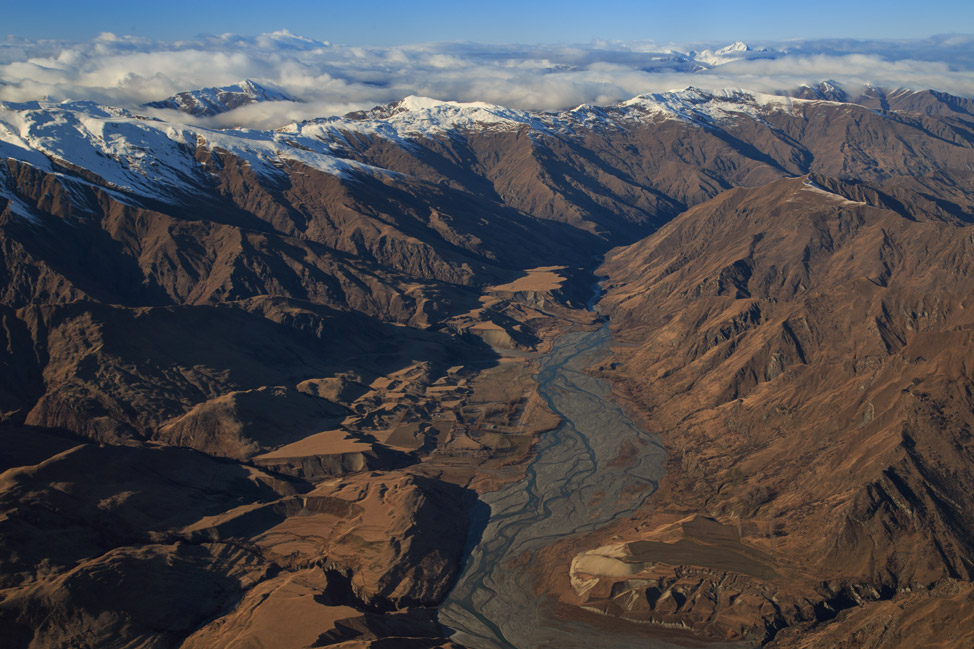 Over the Southern Alps