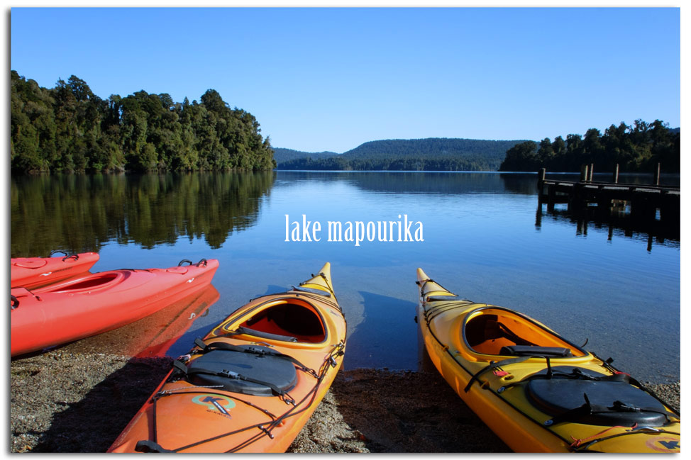 Kayaking Mapourika Lake