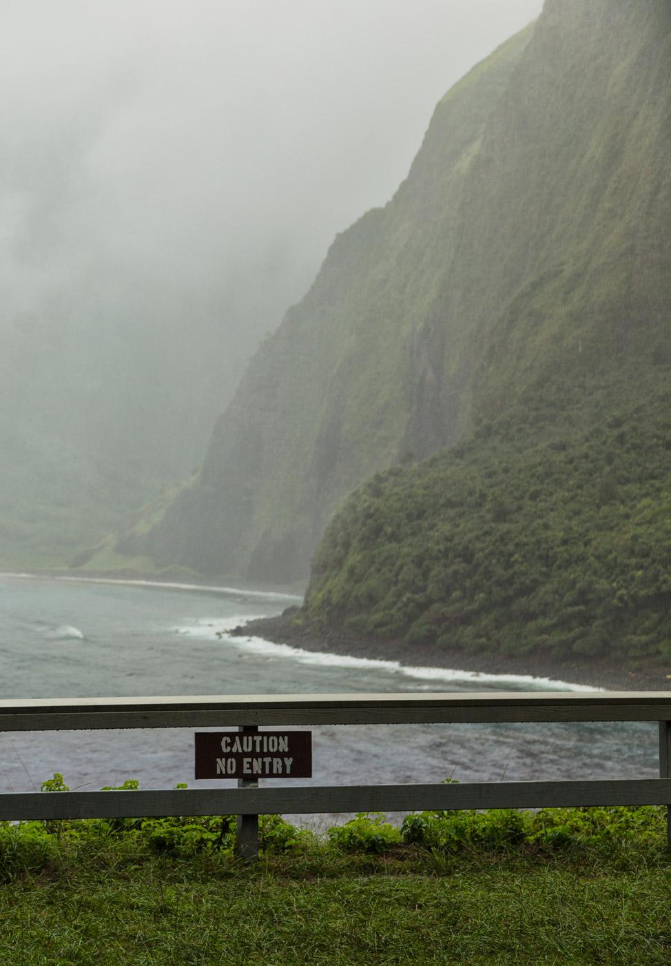 Caution Sea Cliffs