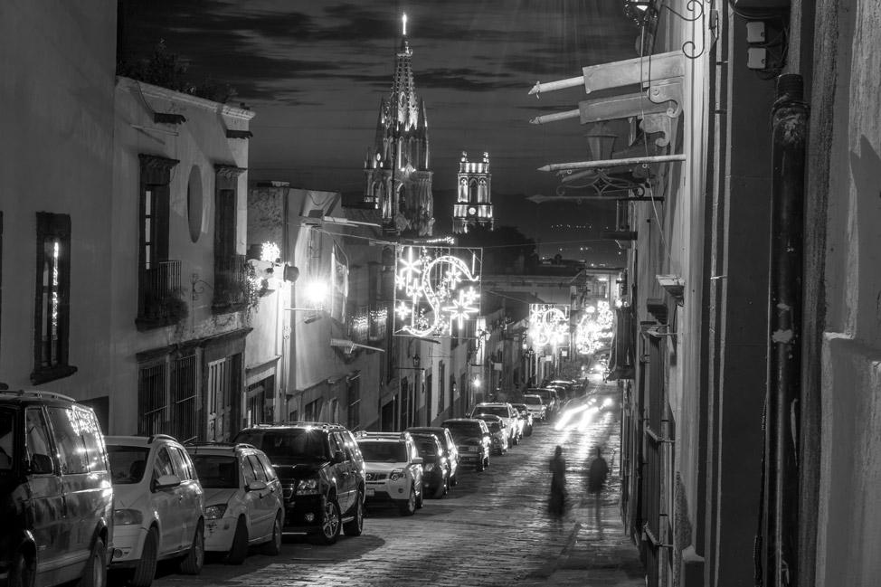 La Parroquia San Miguel de Allende - Night Street Scene