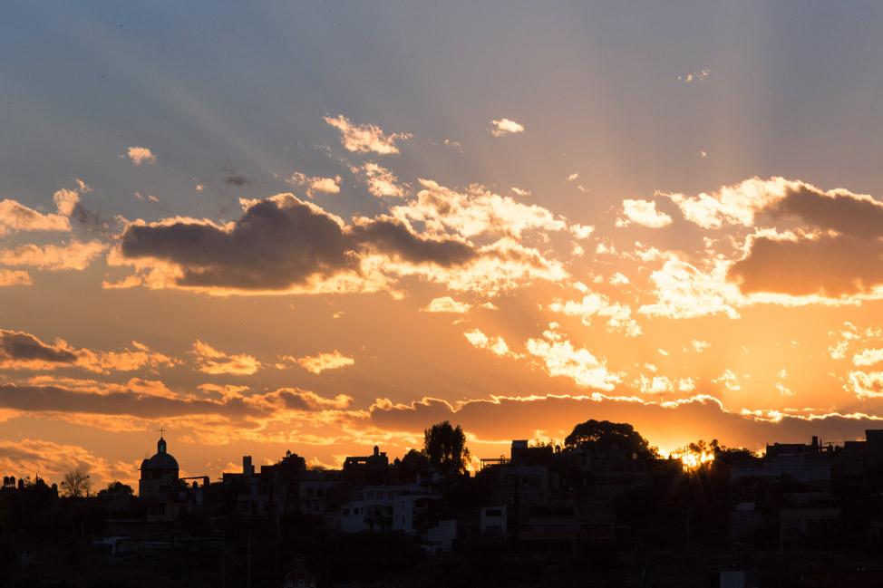 San Miguel de Allende Sunset Silhouette