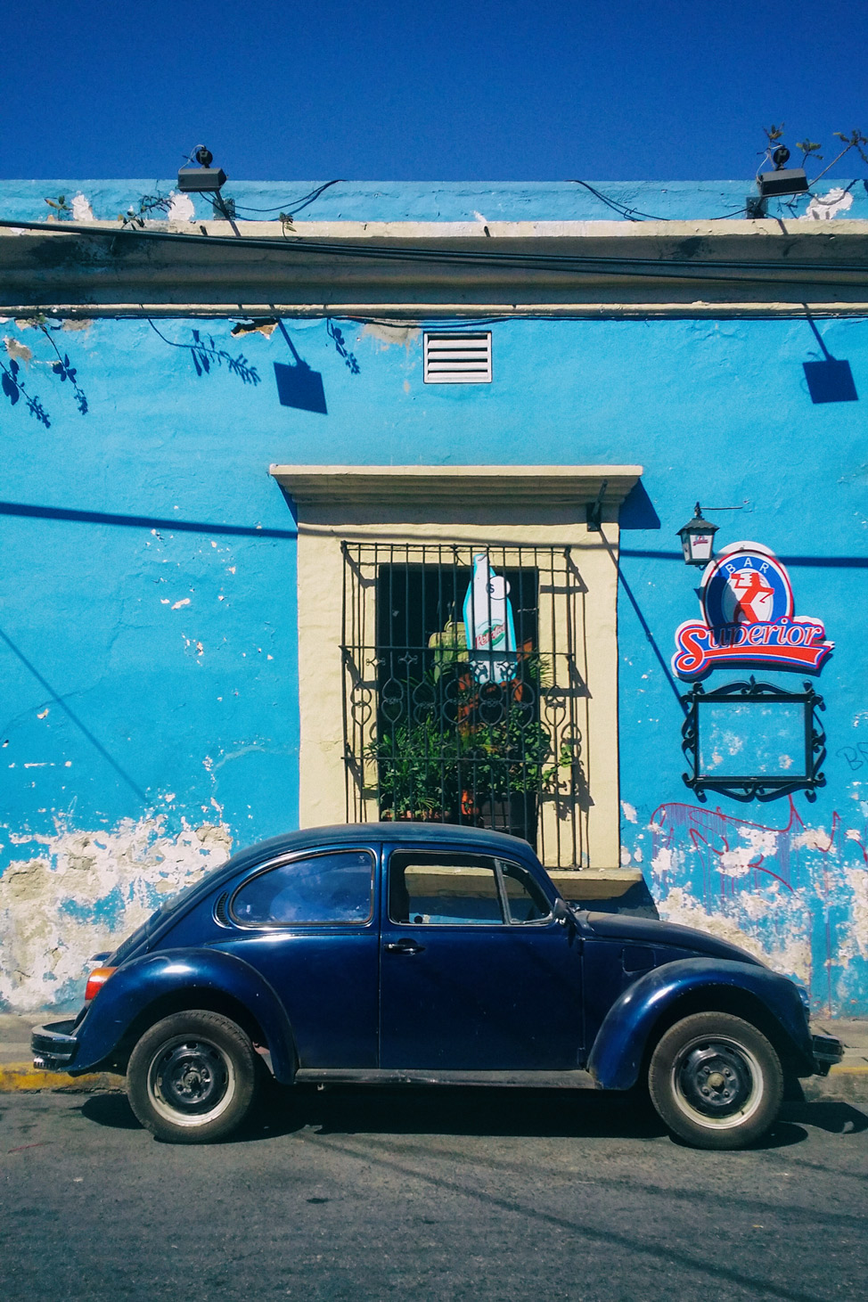 Blue VW Beetle Oaxaca