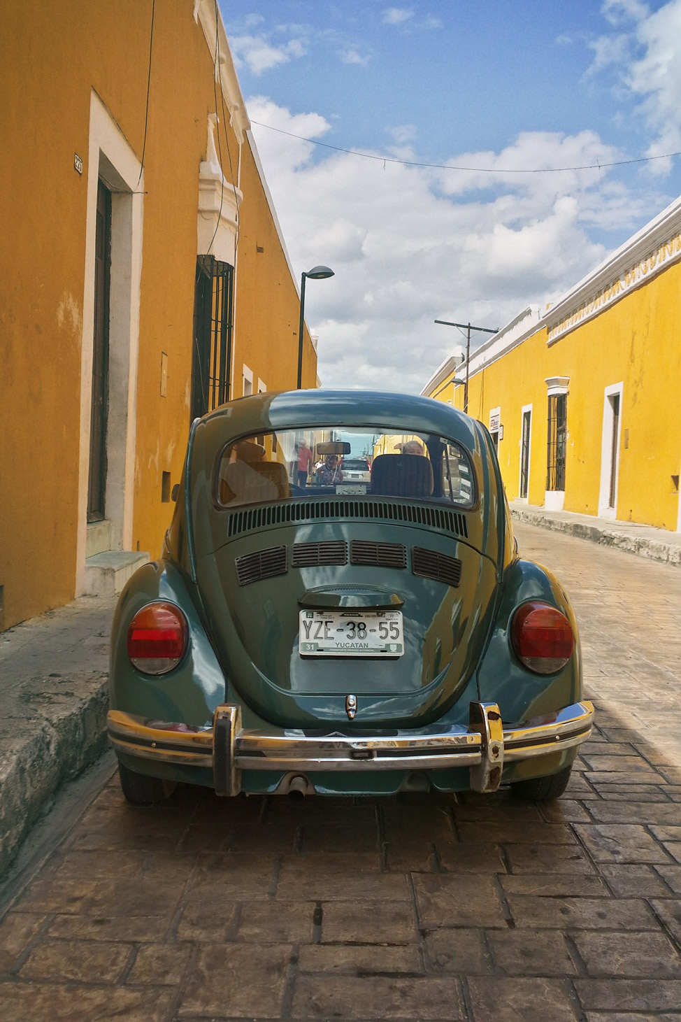 Green VW Beetle Izamal