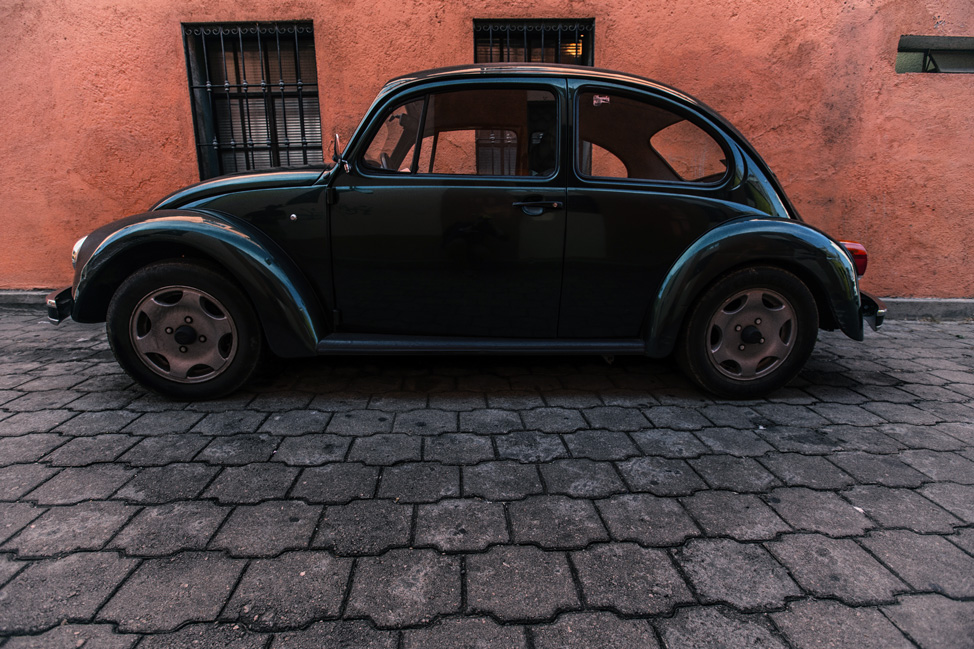 Green VW Beetle Oaxaca