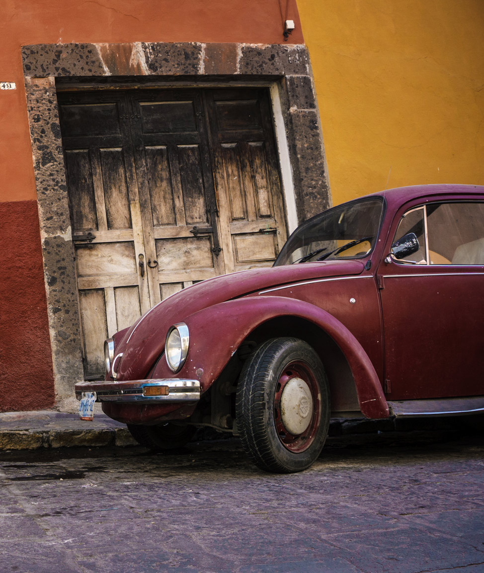 Red VW Beetle San Miguel de Allende
